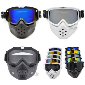 Detachable Goggles Nose Face Mask Mouth Filter Modular Motorcycle Shield Helmet Ebay