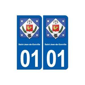 01 Saint-jean-de-gonville Blason Ville Autocollant Plaque Sticker Bonne RéPutation Sur Le Monde
