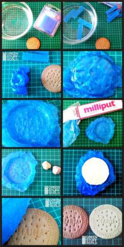 Blue Stuff 4 bars Make reusables instant mold Warhammer Fantasy OOAK doll