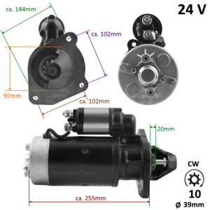 24V-Anlasser-fuer-Ford-Motor-Traktor-Marine-Truck-AR24-2712
