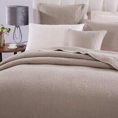 dada bedding cotton floral neutral taupe beige elegant coverlet bedspread set ebay