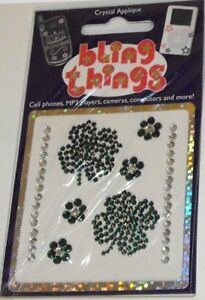 4-Leaf-Clover-Crystal-Cell-Phone-BLING-THING-iPhone-Sticker-iPod-Decal-BBS038