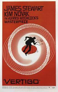 VERTIGO CLASSIC JAMES STEWART HITCHCOCK THRILLER FILM A3 FILM POSTER REPRINT