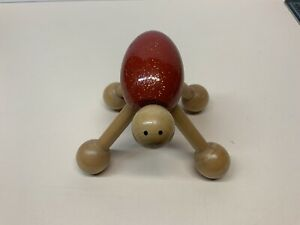 Wooden-Hand-Crafted-Bug-Figurine-Red-Glitter-4-Legs-Toy-4-Wood-Sculpture
