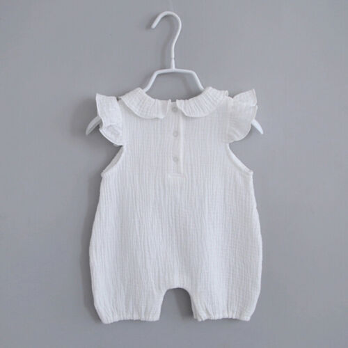 Summer Baby Girl Romper Newborn Clothes Baby Sleeveless Solid Romper Jumpsuit N7