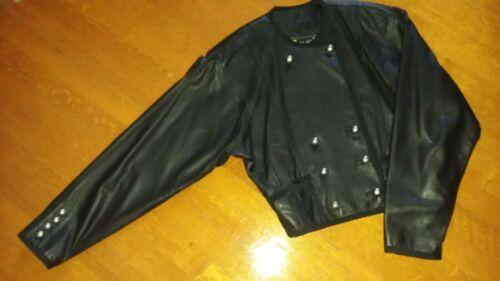 Laurel FINE FEATHERS Black Leather Soft Supple Jac