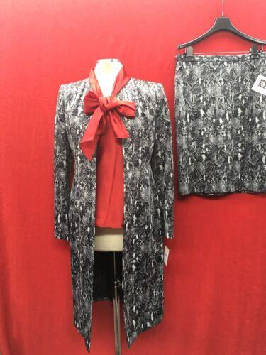 Abito GonnaNuovi 8 foderato maglia Anne Retail Etichetta Klein Con hdtxQrCBs
