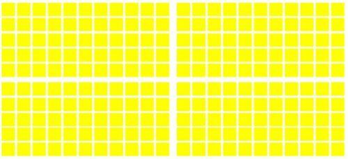 Square Vinyl Sticker 15-100mm Self-Adhesive Peel Wedding Glass 300