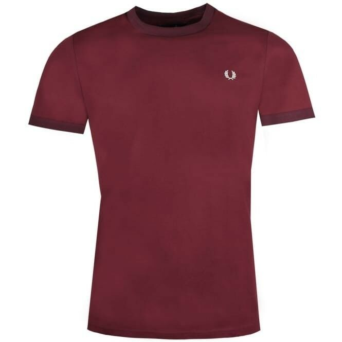 BNWT FROT Perry M3519 Port Burgundy ROT  Ringer T-Shirt M   122 Tee