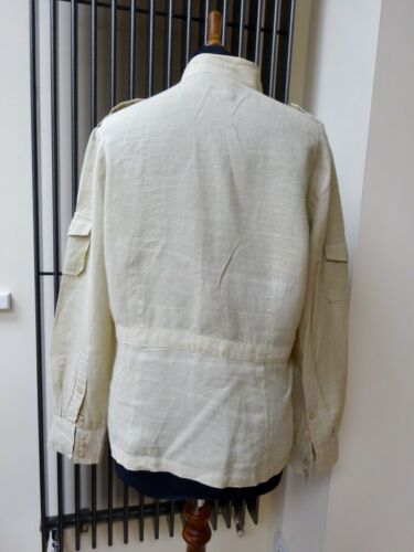 M Ladies Court Carlies Natural Cream 10 Uk Jacket Top Linen Size gx8wYAq