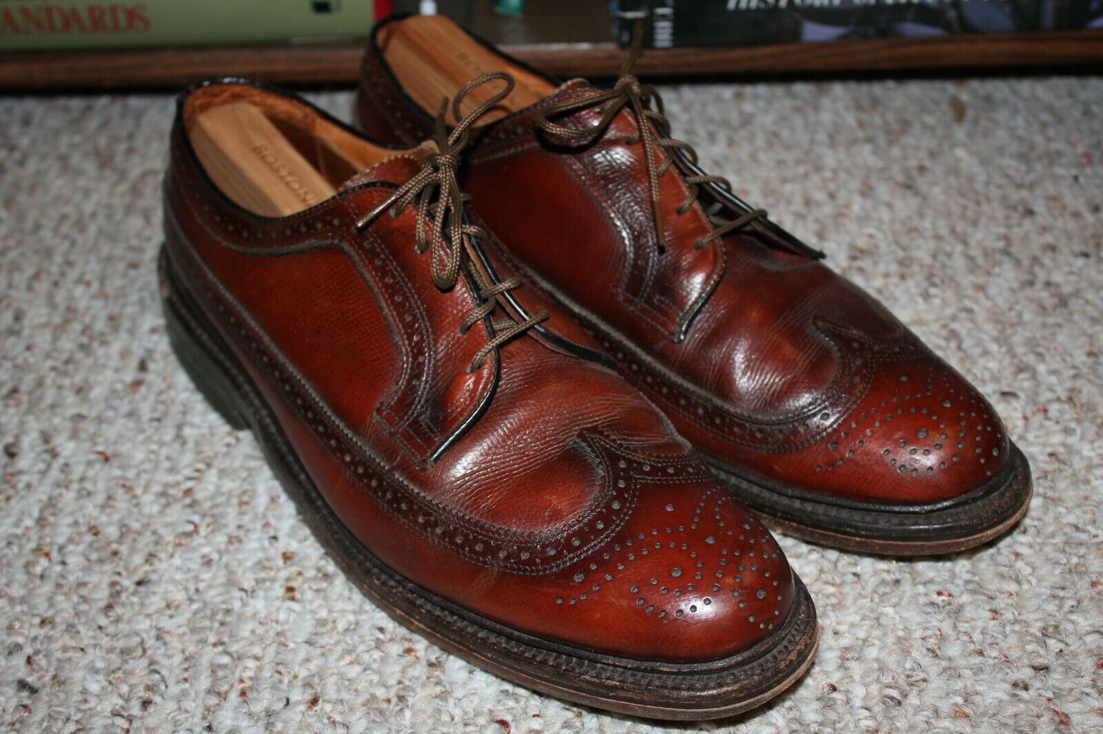 Mens Austin Reed Regent Street Wingtip Shoes Size 10m Gem