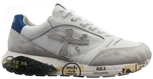 Sneakers SS20 Premiata Scarpa UOMO Zac Zac 4555 Bianca//White Blu//Blue