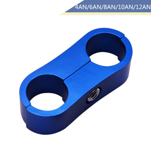 Braided Fuel Hose Separator Hose Pipe Clamp Billet Aluminum Clamp Mount Brackets