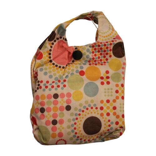 Donna riutilizzabile Pieghevole Shopping Bag Eco Tote Borsetta FORTE Borsa Pieghevole