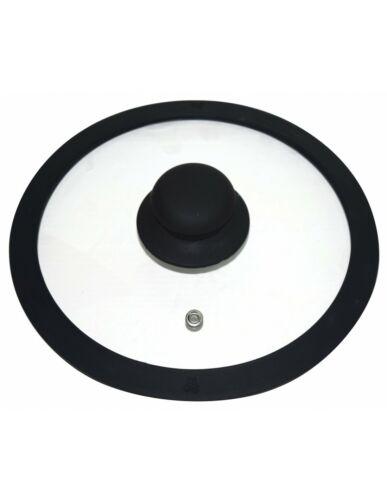 Universal Glasdeckel für Töpfe und Pfannen Deckel mit Silikonrand 20-28 cm Glas