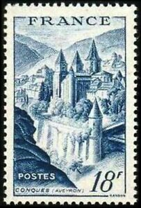 FRANCE-TIMBRE-STAMP-N-805-034-ABBAYE-DE-CONQUES-18F-034-NEUF-XX-LUXE