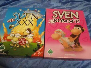 2  Stück  PC  CD - ROM  , SVEN  kommt  !  +  SVEN  XXX  ,  Spiel  ,  ovp.