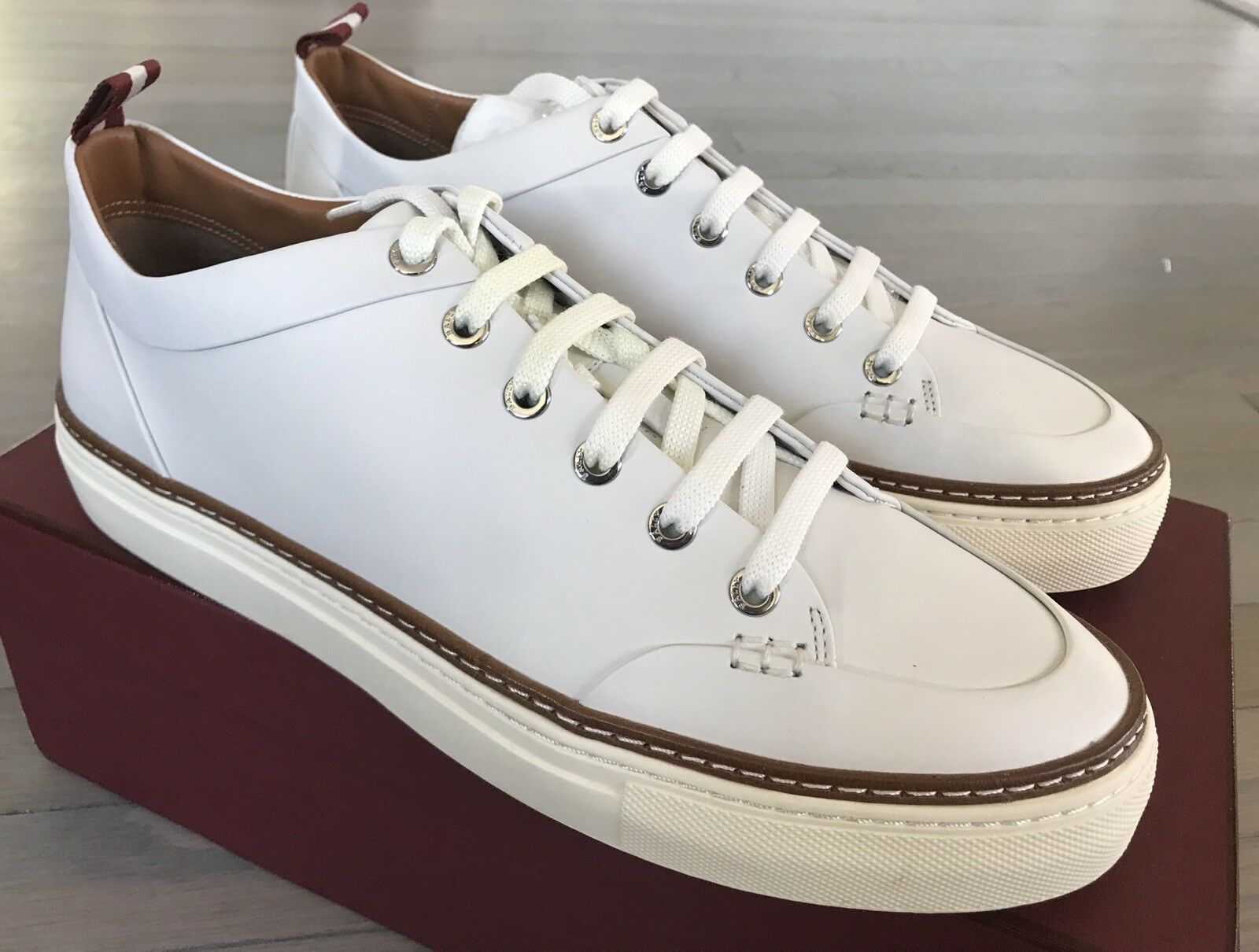 Bally Hernando White Leather SNEAKERS