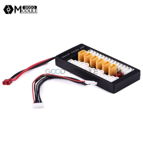 XT60 Parallel Charging Board Balance T Plug Lipo 2-6S Multiple Battery Charger