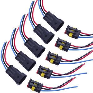 3-Polig Kabel Steckverbinder Stecker Elektrik Wasserdicht Schnellverbinder KFZ