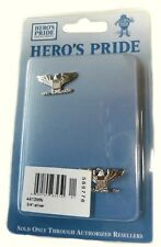 Colonel Captain Eagle Collar Pin Devices Set 2 US Military Silver Plated 4413