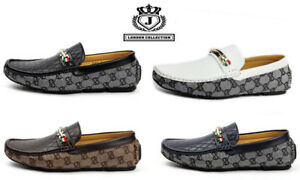 Mens-Smart-Casual-Loafers-Slip-On-Driving-Shoes-Designer-Moccasin-Walking-Flats
