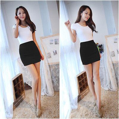 Women Sexy Mini Skirt Slim Seamless Stretch Tight Short Pencil Skirt Candy Dress