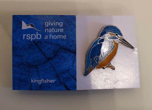 "VGC//NEW DESIGN CARD /""RSPB KINGFISHER/"" Pin Badge FREE POST // SAME DAY DISPATCH"