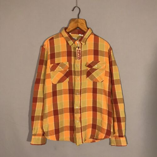 LEVIS LVS Vintage Clothing Shorthorn Yellow Orange