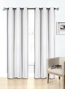 2PC Foam Lined Heavy Thick Blackout Grommet Window Curtain Panels KK92 Mint