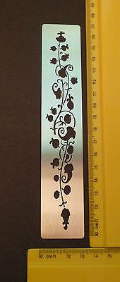 Border//Metal//Stencil//Leaf//Floral//Oriental//Bamboo//emboss//Stainless//Steel