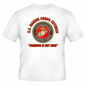 U.S.MARINES FREEDOM & OPERATION IRAQI FREEDOM VETERAN CAMPAIGN  2-SIDED SHIRT