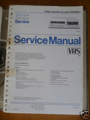 Tv, Video & Audio Service Manual Philips Vr 6462 Video Recorder,original Gesundheit Effektiv StäRken