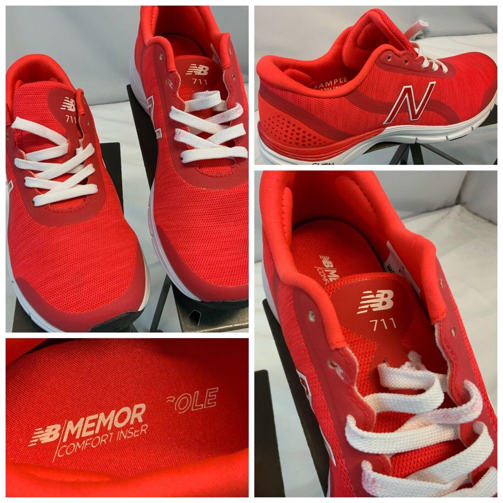 New Balance 711 Sz 7 Femmes Rouge Chaussures De Course RARE échantillon neuf sans boîte ygi H1S-104