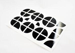 BMW-Emblem-Ecken-Aufkleber-Sticker-schwarz-glanz-E90-E91-E92-E93-E81-E87-usw
