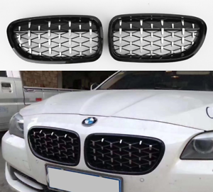 BMW-F10-F11-F18-amp-M5-chrome-black-diamond-style-kidney-grille-grilles-grills-UK