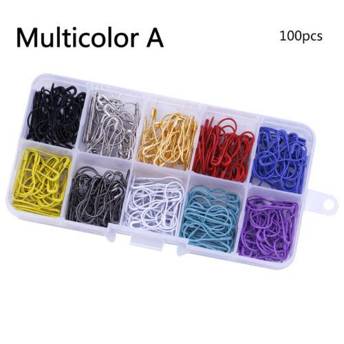 100//300pcs Craft Gourd Shape Pins Knitting Stitch Marker Metal Clips Calabash US