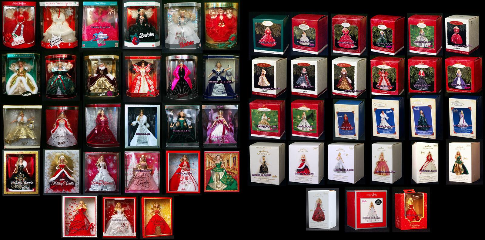 Vacaciones Barbie Muñeca 1988 - 2014 celebración del sello Ornamento 1992 2009 2013 Exc