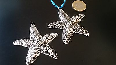 MAR-31 caracola mar concha abalorios 10 Entrepiezas  Zamak Estrella de Mar