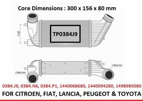 FOR-CITROEN-C8-DISPATCH-RELAY-PEUGEOT-807-EXPERT-2-0HDI-INTER-COOLER-RADIATOR