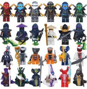 Neu 24 Stk Ninjago Mini Figuren Kai Jay Sensei Wu Master Building Blocks Toy Set