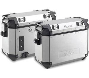 Kappa-K-Venture-Aluminum-Monokey-37-Liter-Side-Cases-LEFT-amp-RIGHT-PAIR