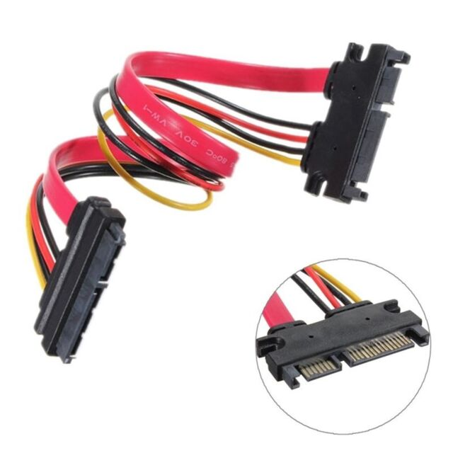 Male To Female 7 15Pin Serial ATA SATA Data Power Extension Cable Lead 22Pin LW