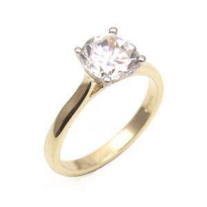 Details About Diamond Unique Solitaire 9ct Gold Ring 2ct Engagement Ring