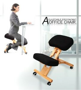 Image Is Loading Adjustable Kneeling Chair Office Stool Stretch Knee Yoga