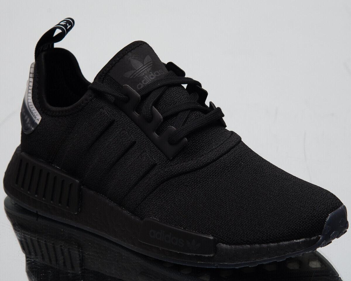 ADIDAS ORIGINAL NMD r1  modellato strisce  da Uomo Nuovo Nero Tempo Libero scarpe da ginnastica