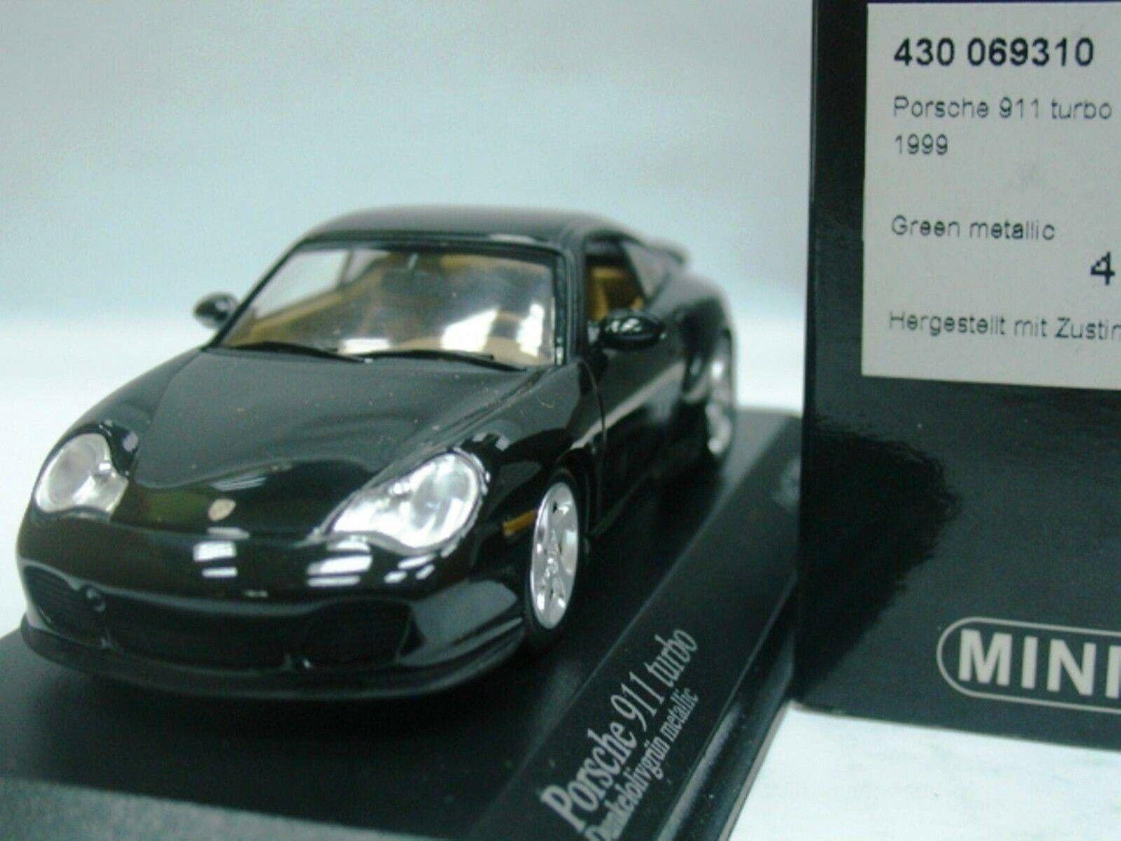 Wow extrêmement rare Porsche 996 911 1999 Turbo S Olive 1 43 Minichamps-GT2-Spark