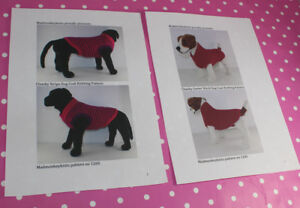 BARGAIN-2-x-KNITTING-PATTERN-INSTRUCTIONS-2-X-CHUNKY-DOG-COAT-KNITTING-PATTERNS