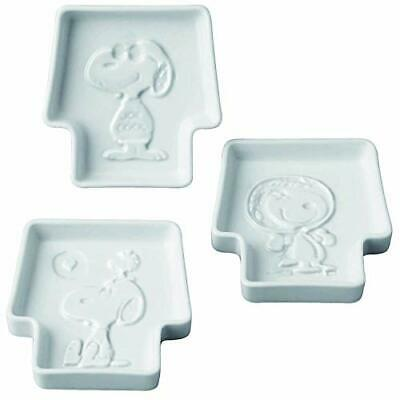 "3 piece set SN660-135 soy sauce dish /"" Snoopy dip plate peanuts /""PEANUTS"