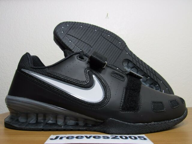 052e58645cde Nike Romaleos 2 Weightlifting Sz 15 100% Authentic Powerlifting Black  476927 010